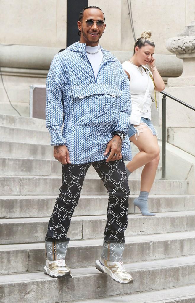 Lewis HamiltonValentino show, Arrivals, Spring Summer 2020, Paris Fashion Week Men's, France - 19 Jun 2019Wearing Valentino