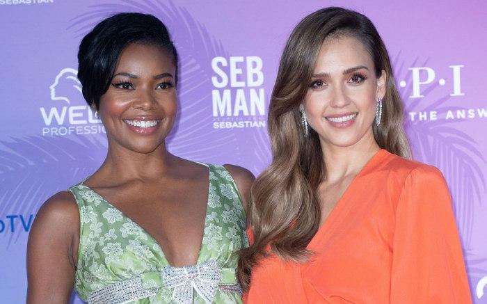 Gabrielle Union (L) and Jessica Alba.
