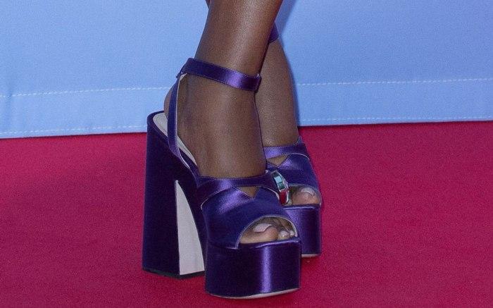 gabrielle union, miu miu, monte carlo televison festival, platform sandals, celebrity style