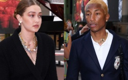 pharrell williams, gigi hadid, Karl For