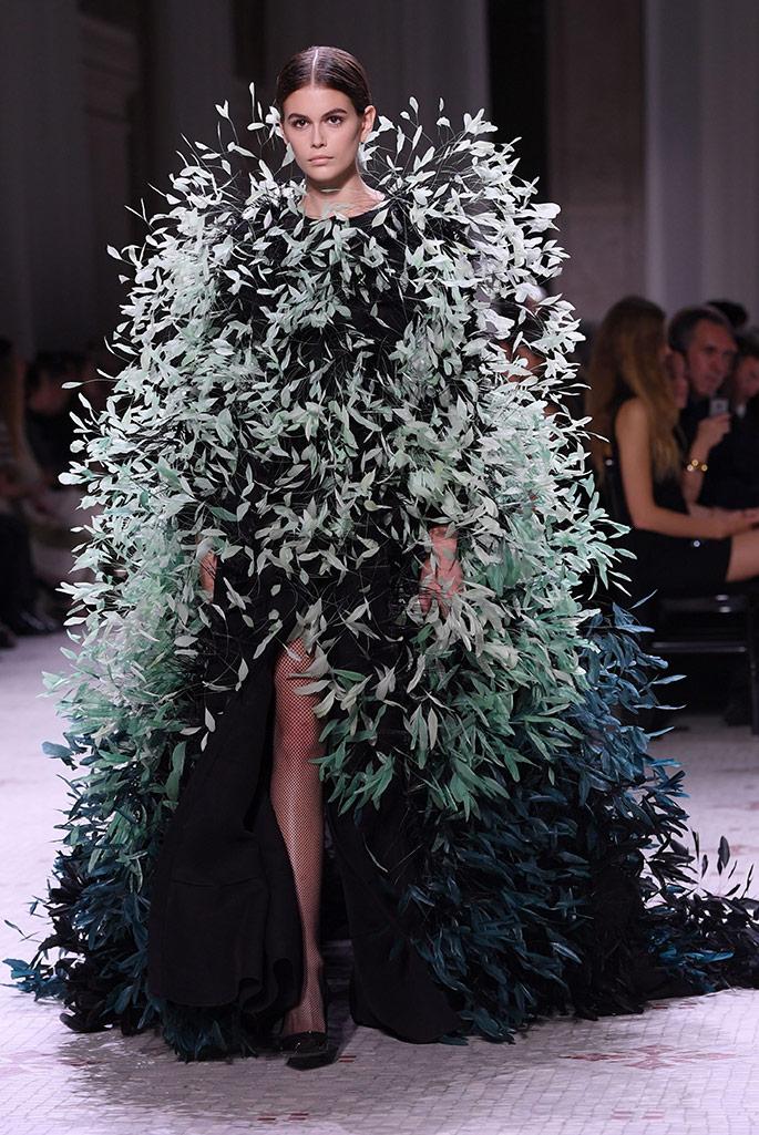 Kaia Gerber, Givenchy Haute Couture, fall 2019.
