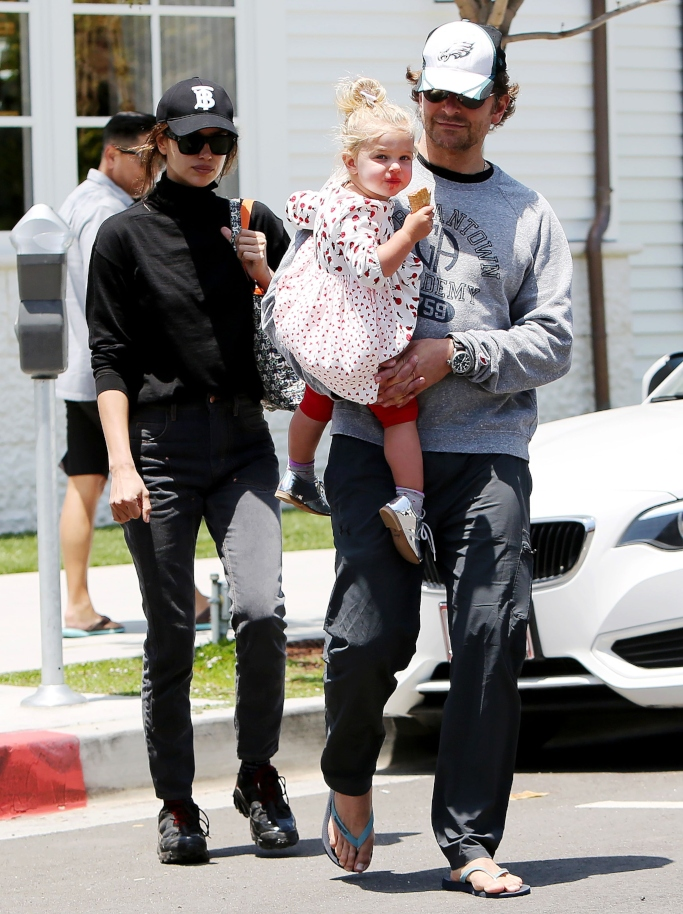 Irina Shayk, Lea De Seine Shayk Cooper and Bradley Cooper