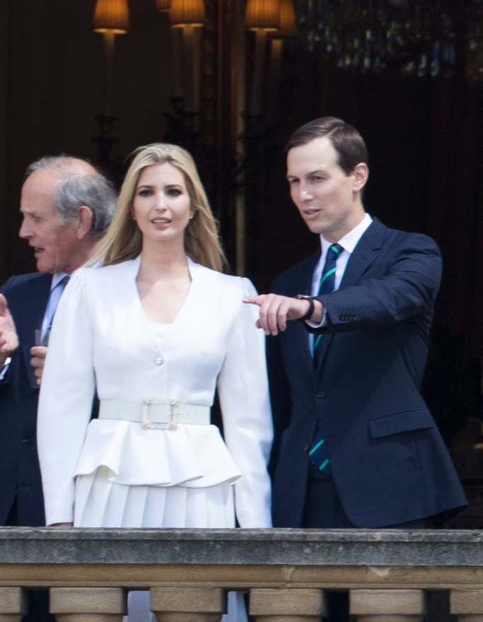 Ivanka Trump and Jared Kushner at Buckingham Palace