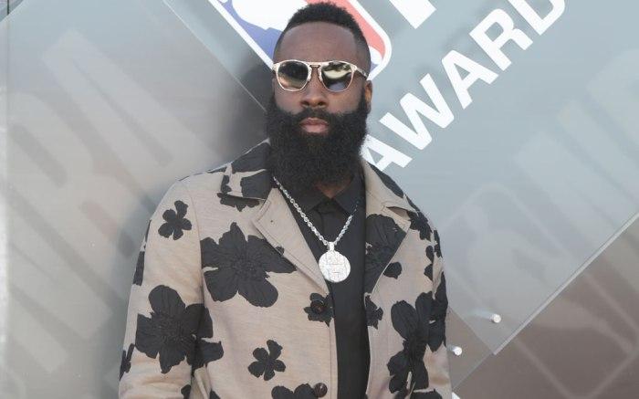 James Harden, 2018 nba awards, red carpet, celebrity style