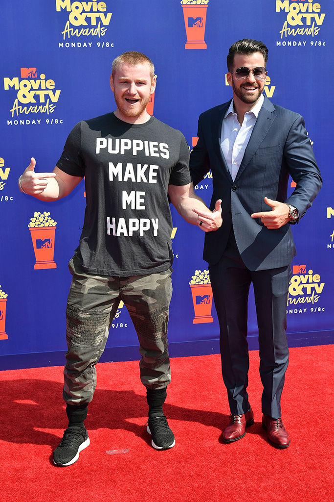 Wes Bergmann and Johnny BananasMTV Movie & TV Awards, Arrivals, Barker Hangar, Los Angeles, USA - 15 Jun 2019