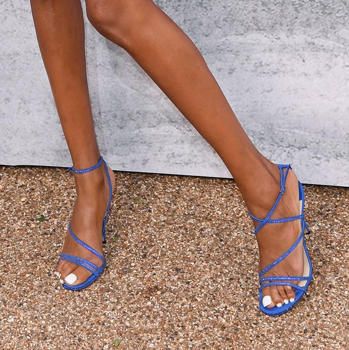 Jourdan Dunn, shoes, feet, high heels, Serpentine Gallery Summer Party, Kensington Gardens, London, UK - 25 Jun 2019Wearing Chanel same outfit as catwalk model *9658635be