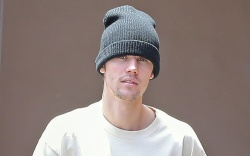 American singer Justin Bieber heads out