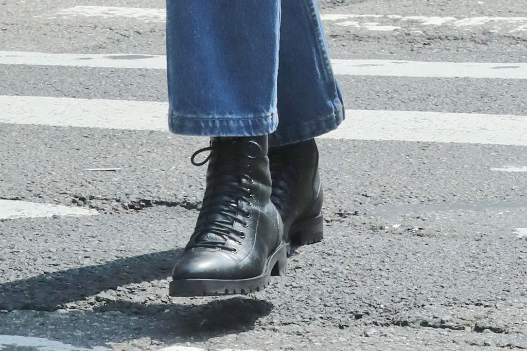Kaia Gerber, jimmy choo cruz boots, celebrity style, nyc