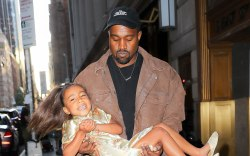 Kanye West, north west, nyc street