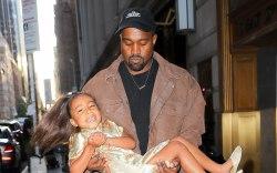 Kanye West, north west, nyc street