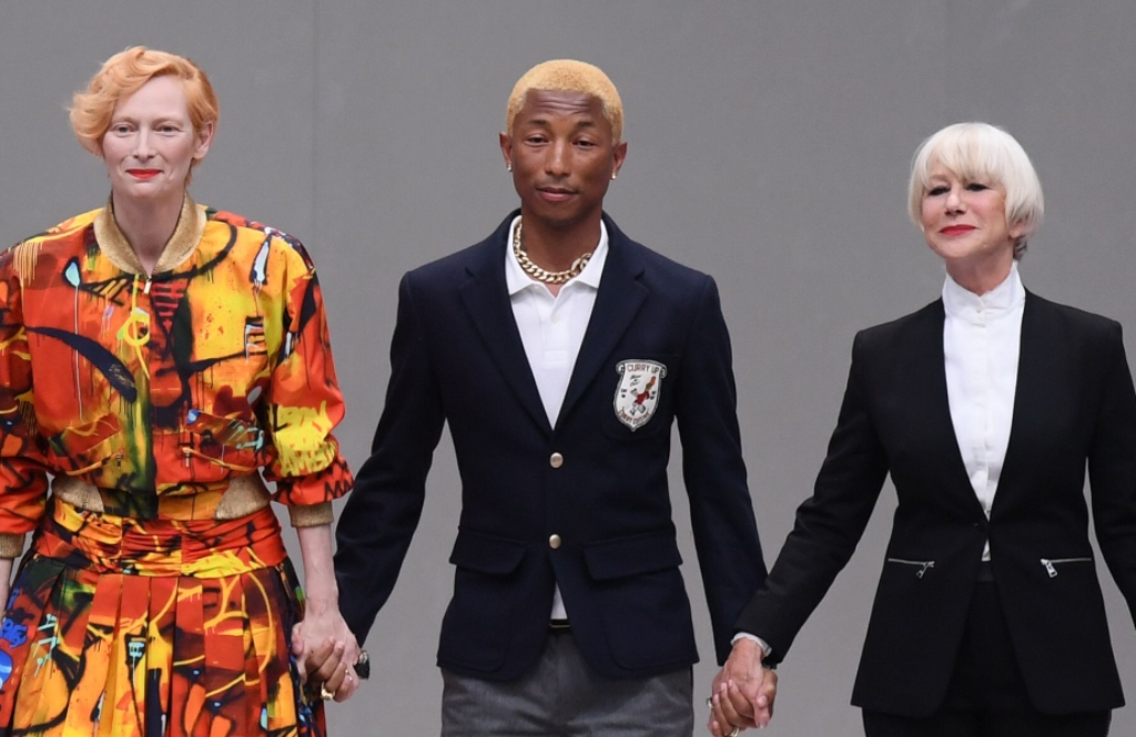 Pharrell Williams, tilda swinton, Karl For Ever memorial, helen mirren,