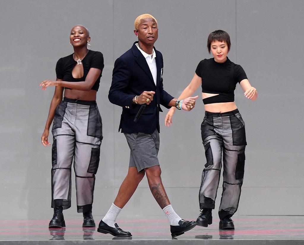Pharrell Williams on stageKarl For Ever memorial, Runway, Paris Fashion Week Men's, France - 20 Jun 2019
