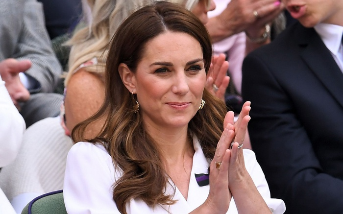 Catherine Duchess of Cambridge in the Centre Court Royal BoxWimbledon Tennis Championships, Day 2, The All England Lawn Tennis and Croquet Club, London, UK - 02 Jul 2019