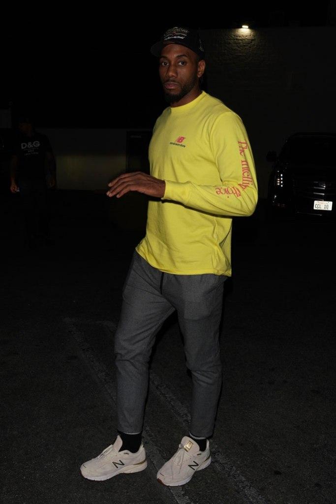 Kawhi Leonard, celebrity style, drake's party, new balance 990v4 sneaker,
