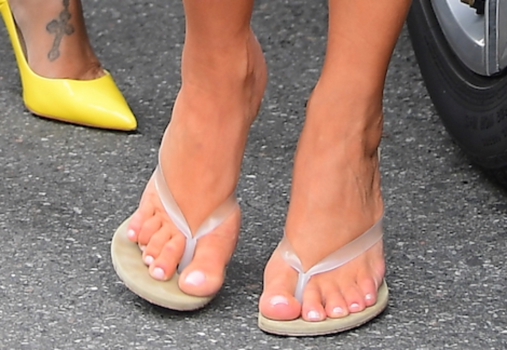 kim kardashian feet, Yeezy Season 8 Thong Sandals