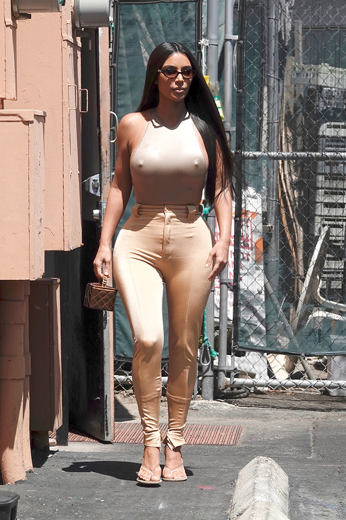 kim kardashian, yeezy pvc season 8 sandals, celebrity shoe style, nude outfit, Reality TV star Kim Kardashian is seen leaving the back door of a restaurant in LA with her sister Khloe.Pictured: Kim KardashianRef: SPL5096577 070619 NON-EXCLUSIVEPicture by: Lies Angeles / SplashNews.comSplash News and PicturesLos Angeles: 310-821-2666New York: 212-619-2666London: 0207 644 7656Milan: 02 4399 8577photodesk@splashnews.comWorld Rights