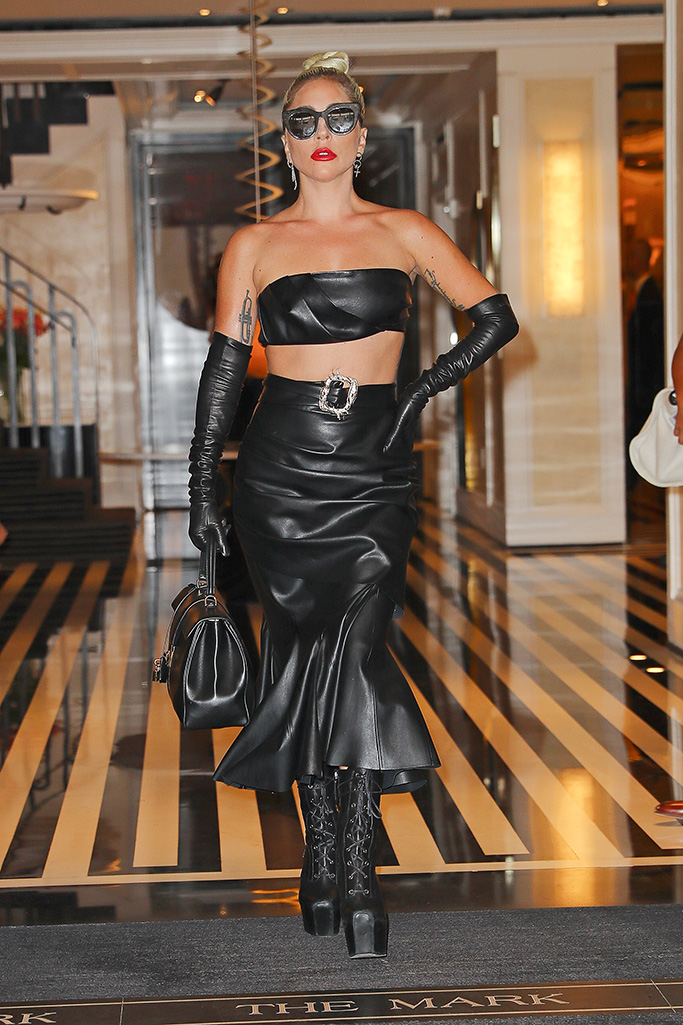 Lady Gaga leather
