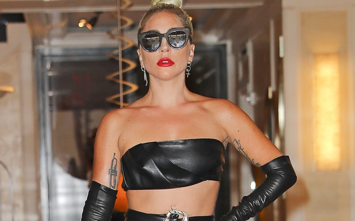 Lady Gaga Steps Out In A Leather Ensemble In New York City