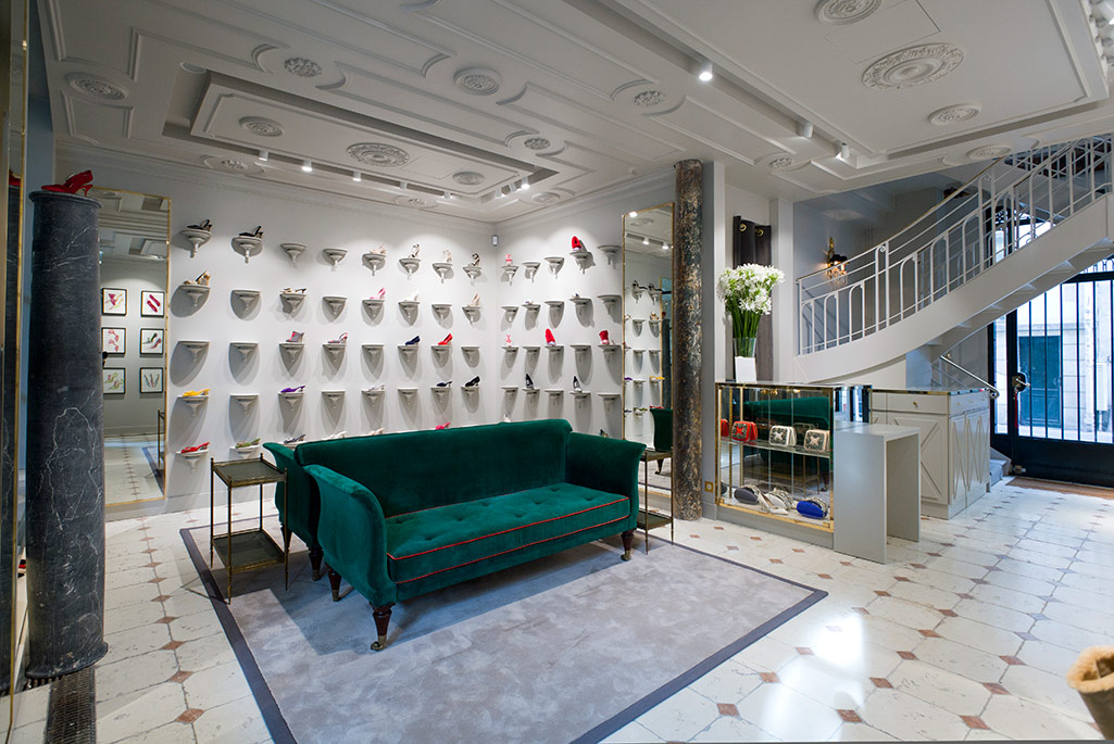 Manolo Blahnik's new Paris boutique.
