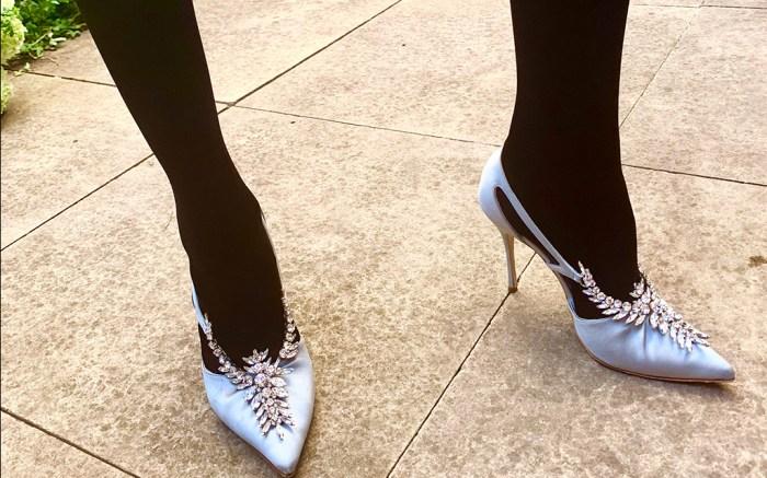 Manolo Blahnik provide the footwear for the Dress by Julie de Libran show.