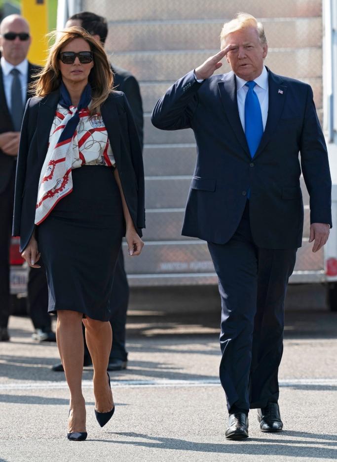 melania trump, burberry, president donald trump
