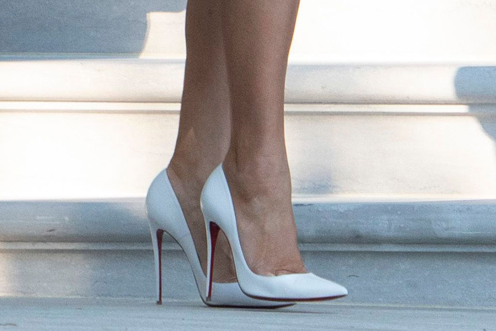 Melania Trump, christian louboutin pumps, celebrity shoe style, white house, congressional picnic
