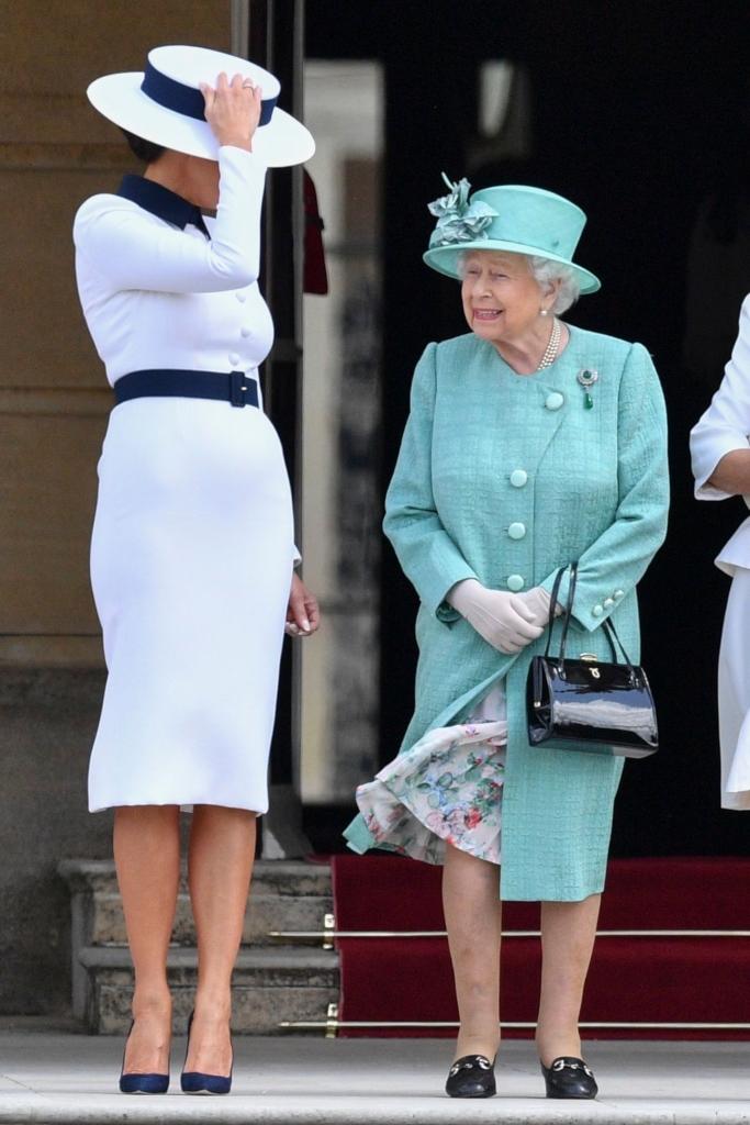 melania trump, queen elizabeth, dolce and gabbana