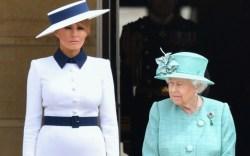 first lady melania trump, queen elizabeth