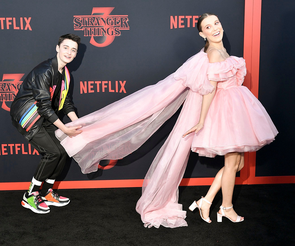 Noah Schnapp and Millie Bobby Brown'Stranger Things' TV Show Season 3 Premiere, Arrivals, Santa Monica High School, Los Angeles, USA - 28 Jun 2019