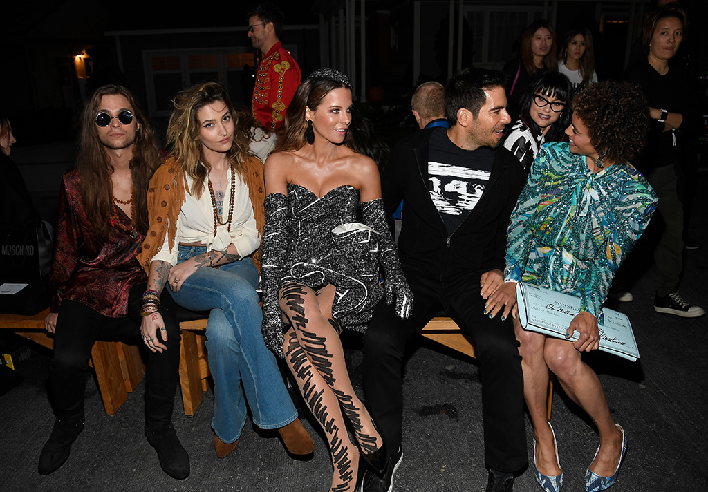 Gabriel Glenn, Paris Jackson, Kate Beckinsale, Eli Roth and Paula PattonMoschino Show, Front Row, Spring Summer 2020, Los Angeles, USA - 07 Jun 2019