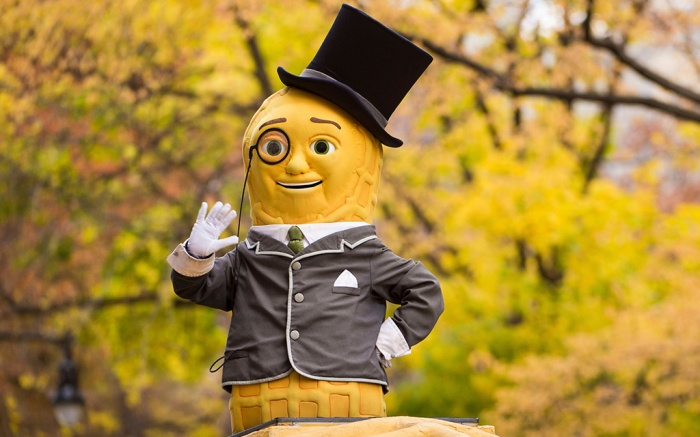 Mr. Peanut is seen on 59th Street during the Macy's Thanksgiving Day Parade, in New York2016 Macy's Thanksgiving Day Parade, New York, USA