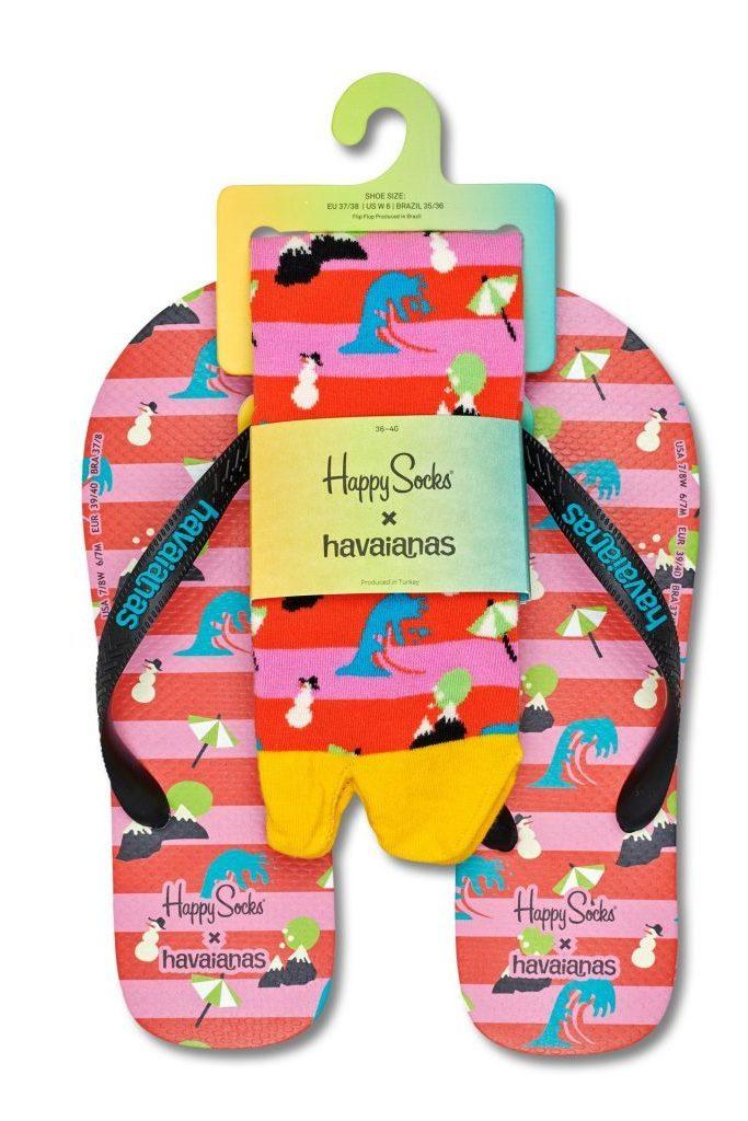Havaianas x Happy Socks 2-pack