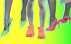 spring 2019 neon shoes trend