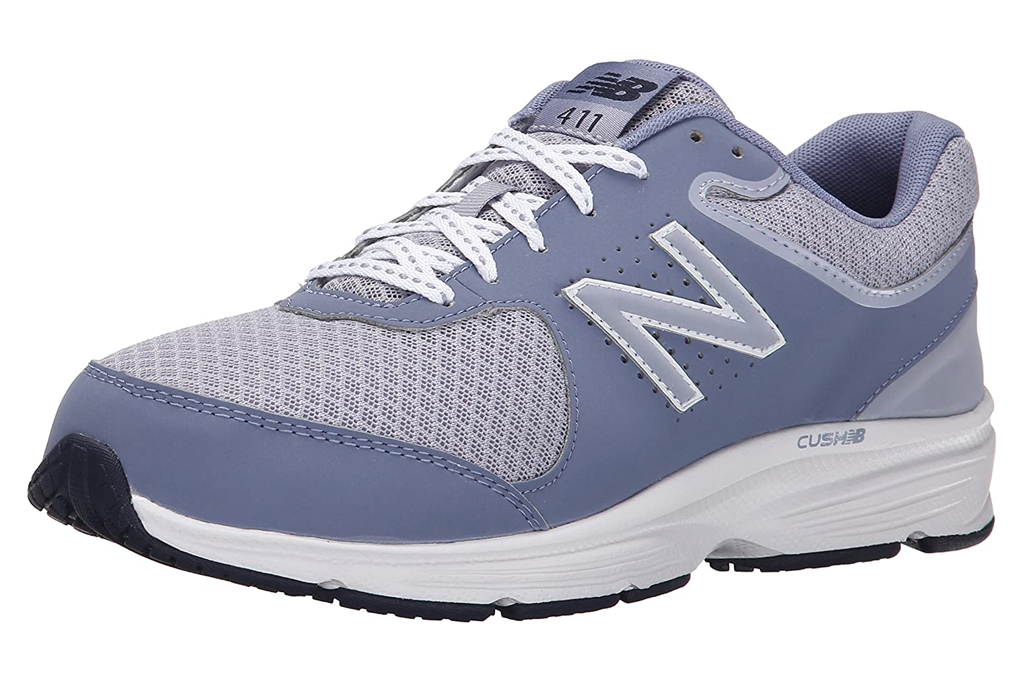 new balance, walking shoes, purple