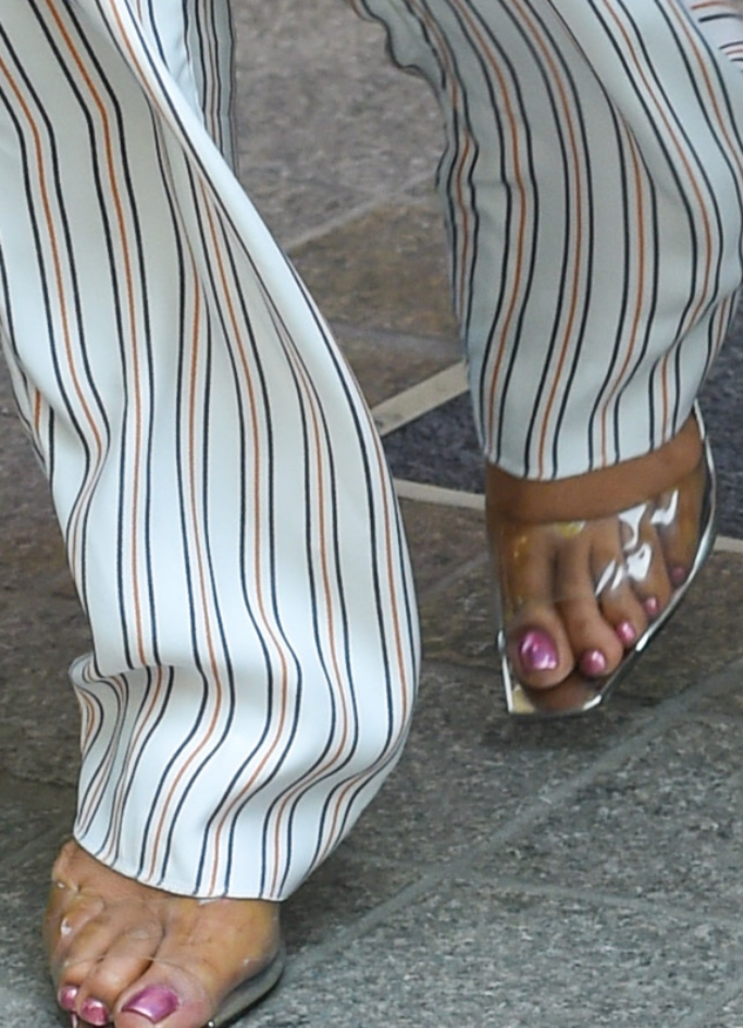 priyanka chopra clear sandals