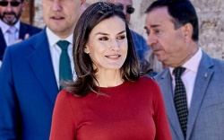 Queen Letizia, boss suit, Seminar for