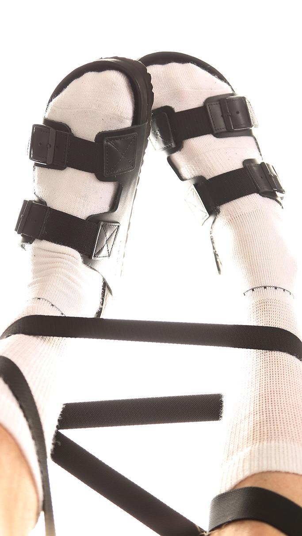 birkenstock x random identities arizona sandals, collaboration, black
