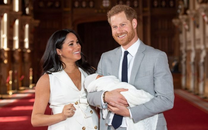 Meghan markle, prince harry, Editorial use only not for use after 7th June 2019Mandatory Credit: Photo by Shutterstock (10231463x)Prince Harry and Meghan Duchess of Sussex with their baby son Archie Harrison Mountbatten-Windsor during a photocall in St George's Hall at Windsor Castle in BerkshirePrince Harry and Meghan Duchess of Sussex new baby photocall, Windsor Castle, UK - 08 May 2019