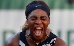 Serena Williams of the U.S. screams