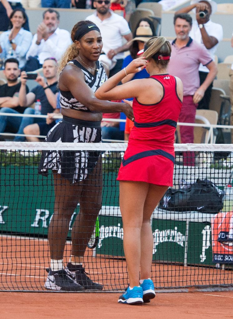 Sofia Kenin (USA) defeated Serena Williams (USA) 6-2, 7-5, at the French Open being played at Stade Roland-Garros in Paris, France. ©Karla Kinne/Tennisclix 2019/CSMTENNIS Roland Garros, Paris, USA - 01 Jun 2019