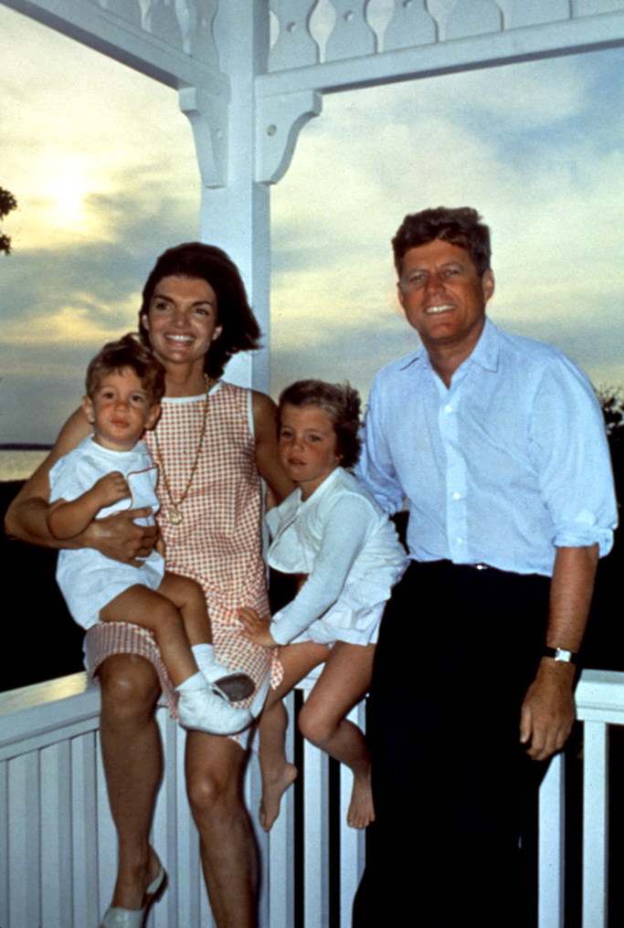 John F. Kennedy, Jr., Jacqueline Kennedy, Caroline Kennedy, John F. Kennedy, Hyannis Port, Massachusetts, August 04, 1962Historical Collection