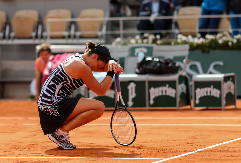 Ashleigh Barty of Australia celebrates winning the Women's Singles FinalFrench Open Tennis Championships, Day 14, Roland Garros, Paris, France - 08 June 2019