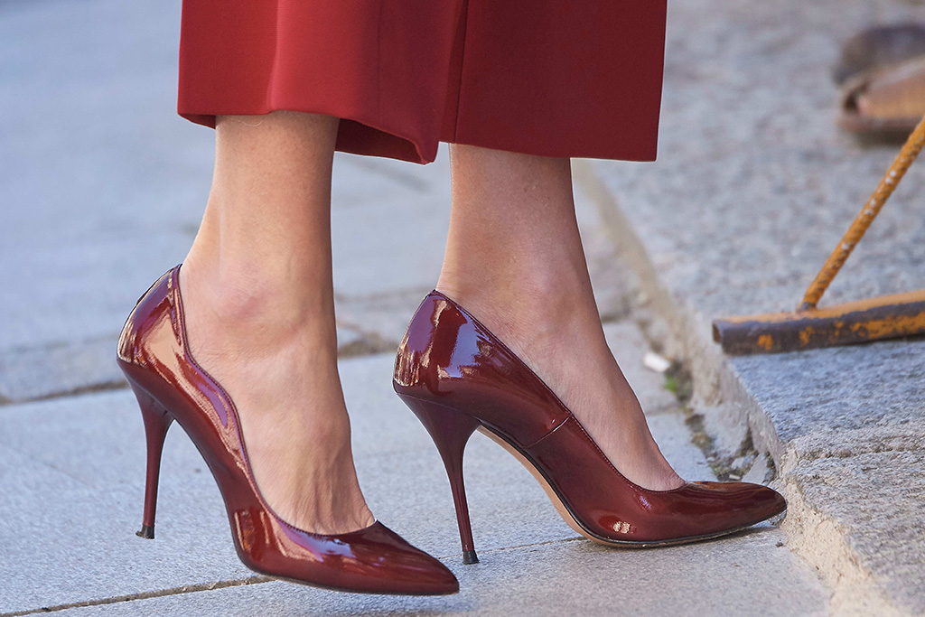 Queen Letizia, shoe detailSeminar for Journalists and Communicators event, Burgo de Osma, Soria, Spain - 12 Jun 2019