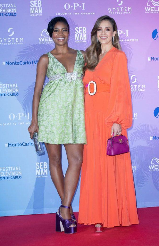 Gabrielle Union and Jessica AlbaTV Series Party, 59th Monte Carlo Television Festival, Monaco - 15 Jun 2019