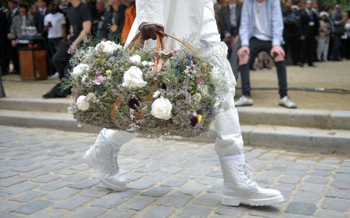 Model on the catwalk, bag detailLouis Vuitton show, Runway, Spring Summer 2020, Paris Fashion Week Men's, France - 20 Jun 2019