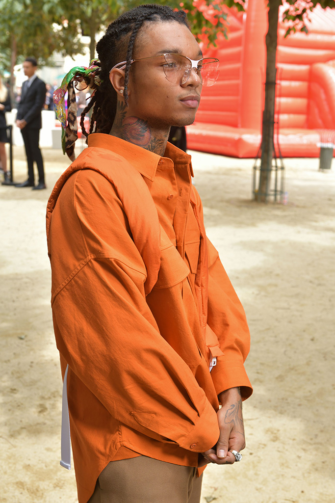 Swae Lee in Louis Vuitton Front Row