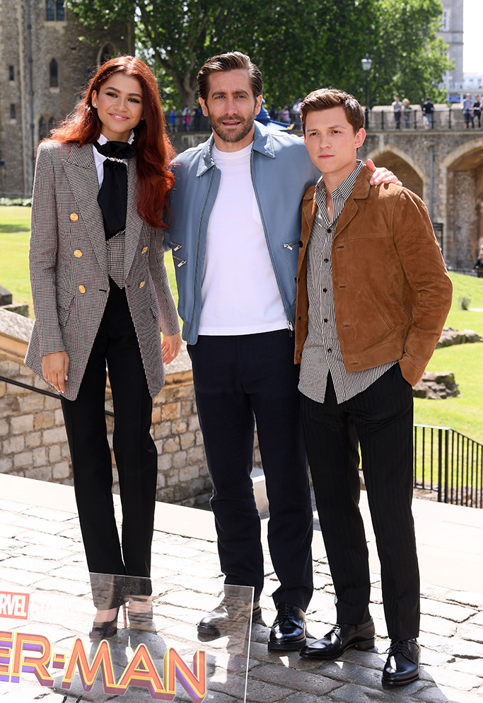 Zendaya, Jake Gyllenhaal and Tom Holland