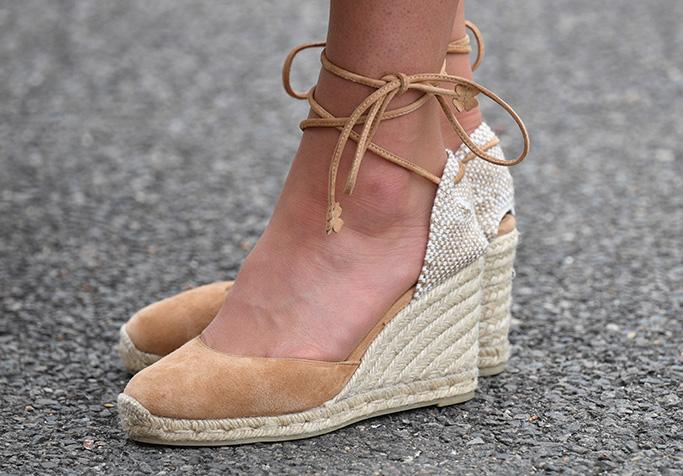 Kate Middleton Shoes, Castaner espadrilles, strappy, wedge heel