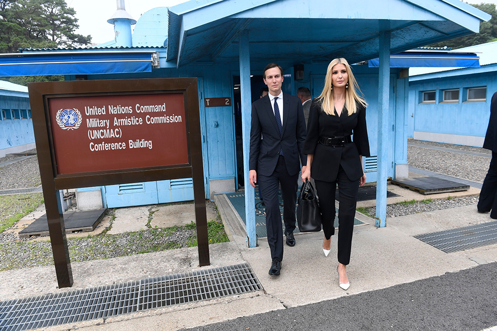 Ivanka Trump, Jared Kushner. White House Senior Advisors Ivanka Trump and Jared Kushner, walk in the border village of Panmunjom in the Demilitarized Zone, South KoreaTrump US North Korea, Panmunjom, South Korea - 30 Jun 2019