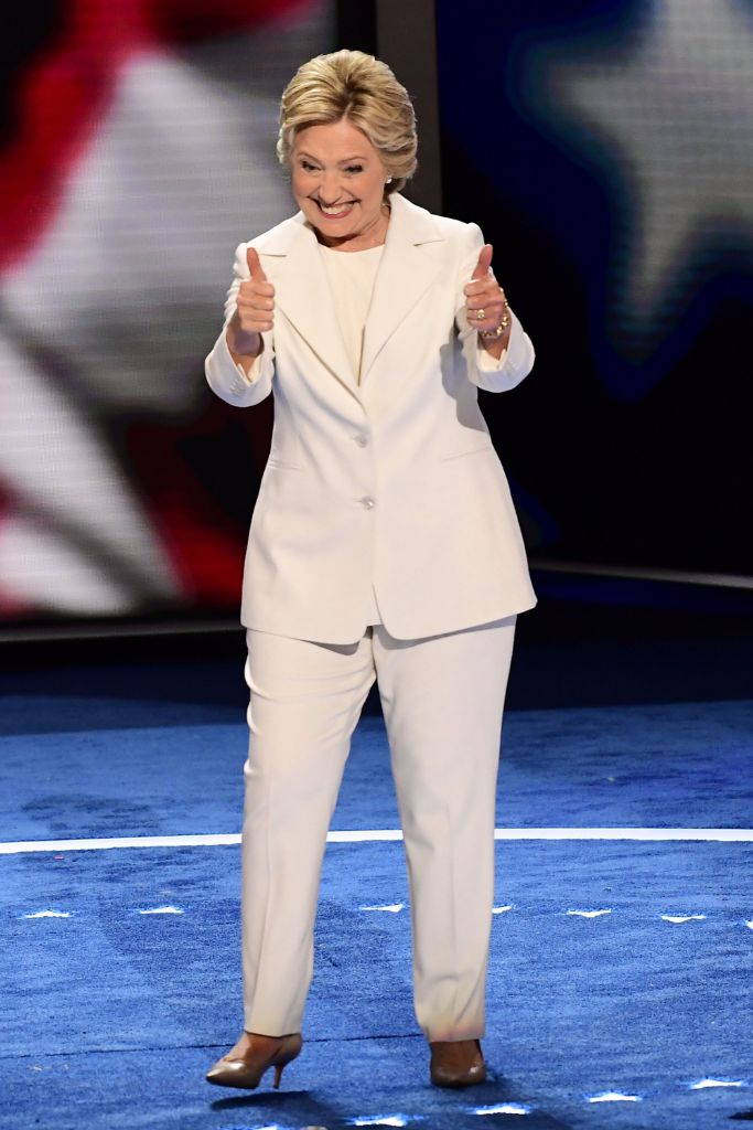 hillary, clinton, pantsuit, 2016, election, ralph, lauren